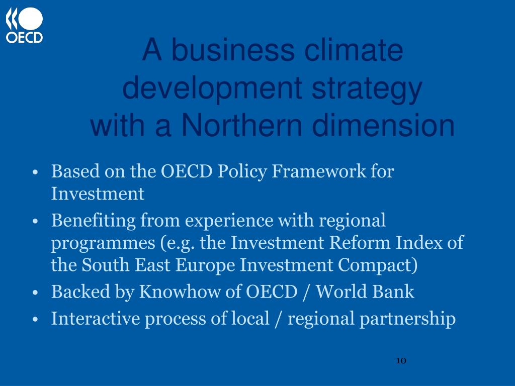 A business climate development strategy