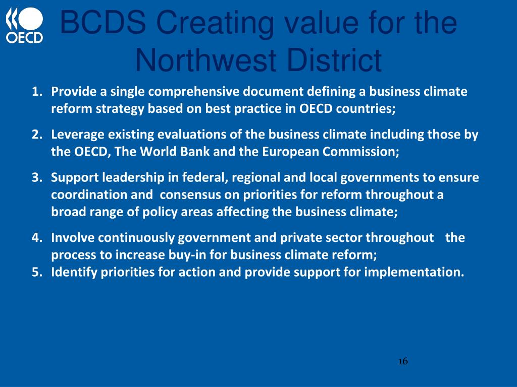 BCDS Creating value for the Northwest District