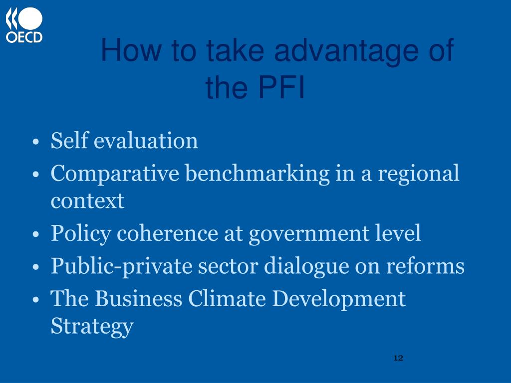 How to take advantage of the PFI