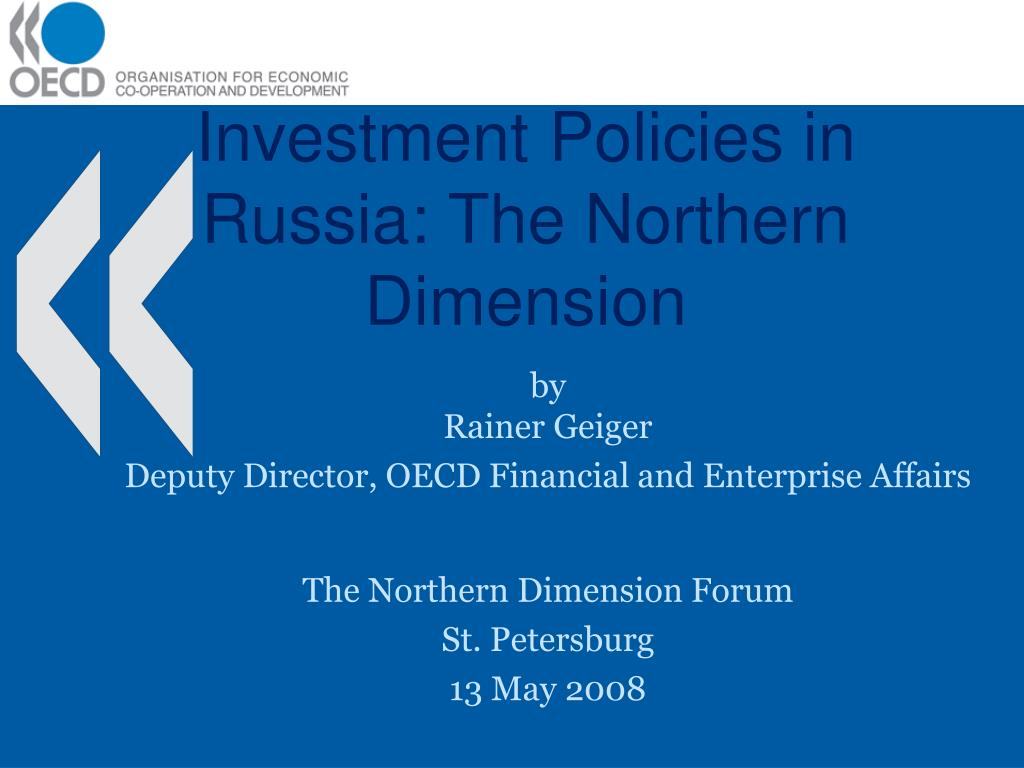 investment policies in russia the northern dimension l.
