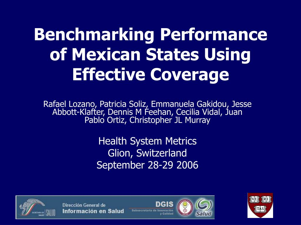 benchmarking performance of mexican states using effective coverage l.