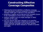 constructing effective coverage composites
