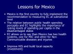 lessons for mexico