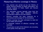 measuring effective coverage in mexico