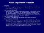 visual impairment correction