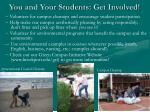 you and your students get involved