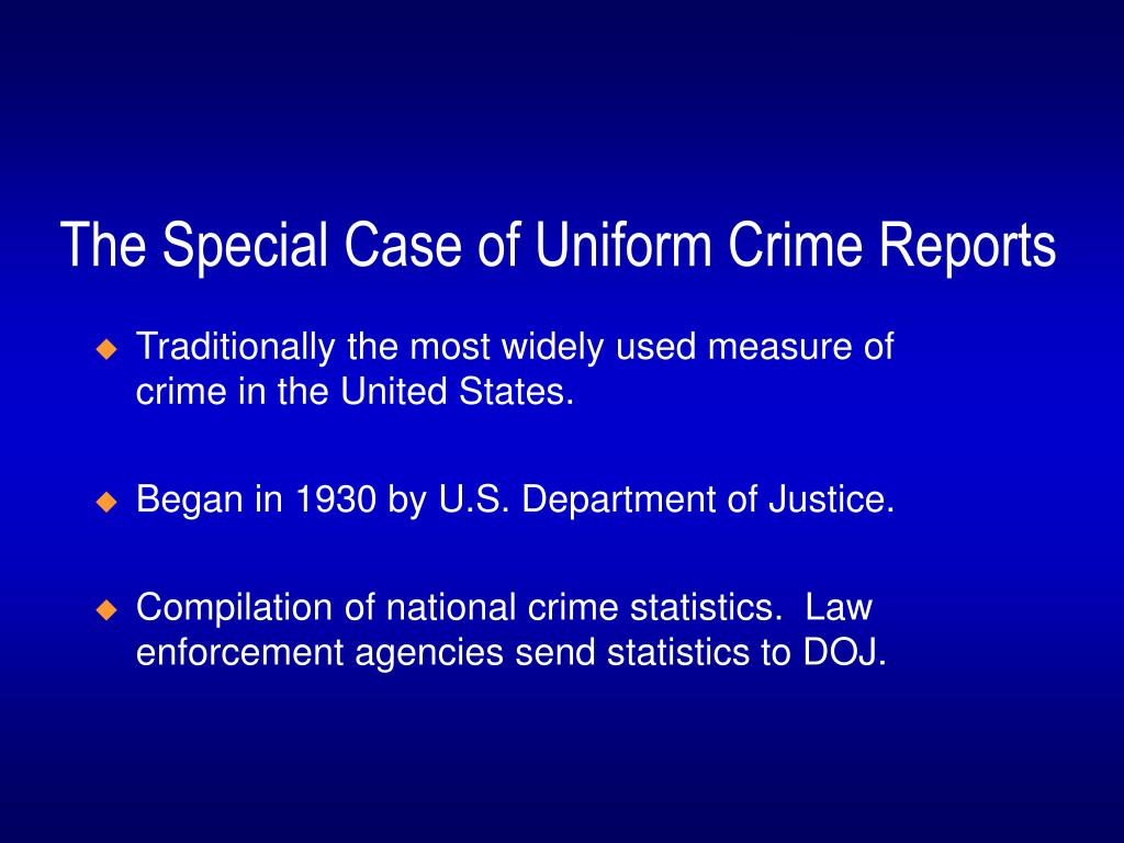 what is the purpose of the uniform crime reports