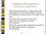 cognitive development instructional implications