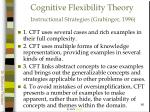 cognitive flexibility theory instructional strategies grabinger 1996