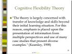 cognitive flexibility theory65