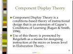 component display theory83