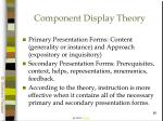 component display theory86