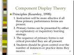 component display theory87