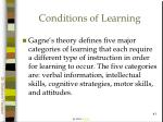 conditions of learning41