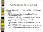 conditions of learning43