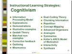 instructional learning strategies cognitivism