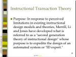 instructional transaction theory