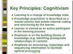 key principles cognitivism