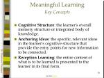 meaningful learning key concepts