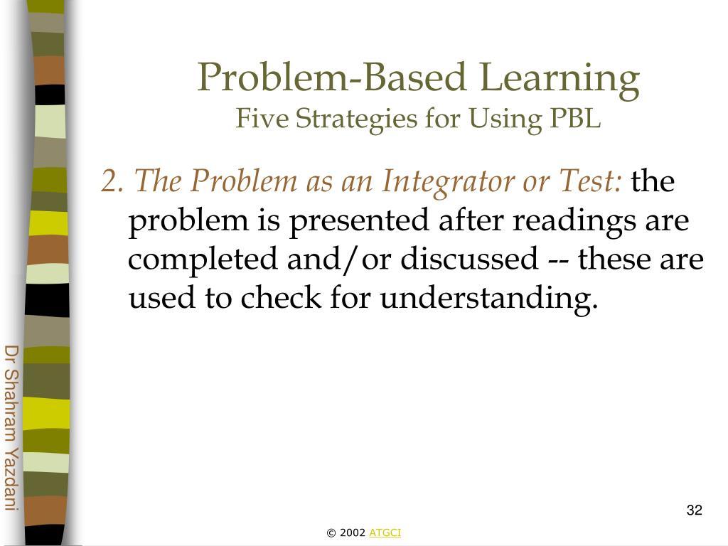 understanding problem based learning
