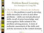problem based learning five strategies for using pbl35