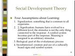 social development theory60