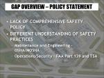 gap overview policy statement