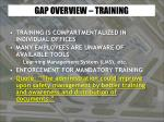 gap overview training