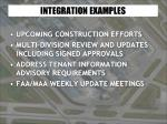 integration examples