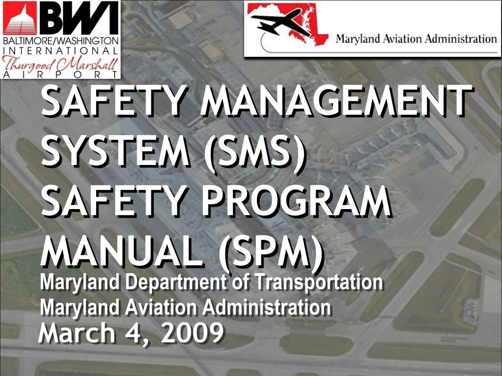 safety management system sms safety program manual spm l.