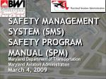 safety management system sms safety program manual spm