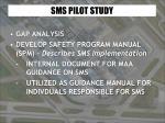sms pilot study