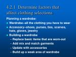 4 2 1 determine factors that affect clothing selections