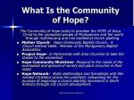 what is the community of hope