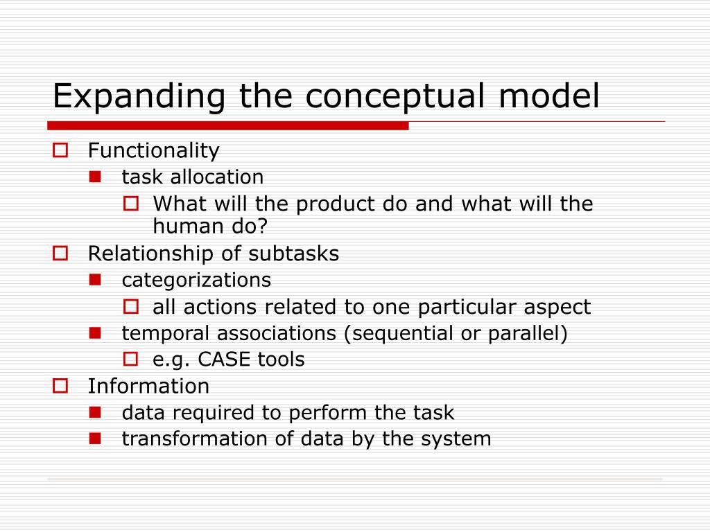 Expanding the conceptual model