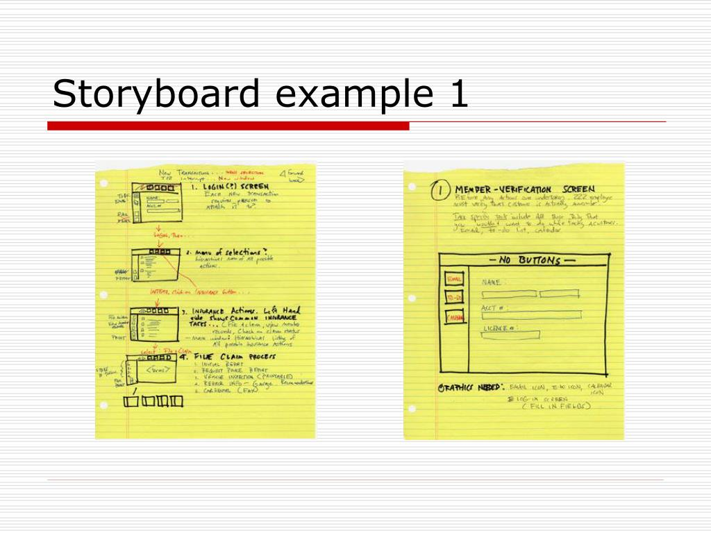 Storyboard example 1
