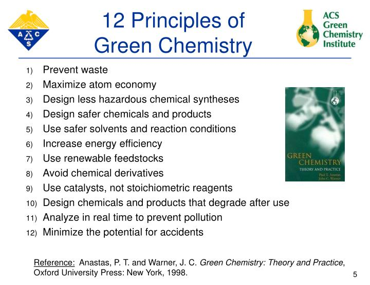 Green Chemistry & The ACS Green Chemistry Institute PowerPoint Presentation