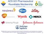 acs gci pharmaceutical roundtable membership as of february 1 2008