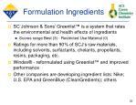 formulation ingredients