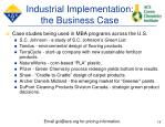 industrial implementation the business case