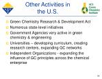 other activities in the u s