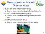 pharmaceuticals made in greener ways