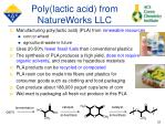poly lactic acid from natureworks llc