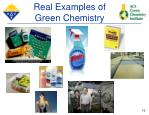 real examples of green chemistry