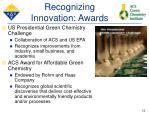 recognizing innovation awards