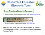 research education electronic tools