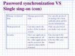 password synchronization vs single sing on con