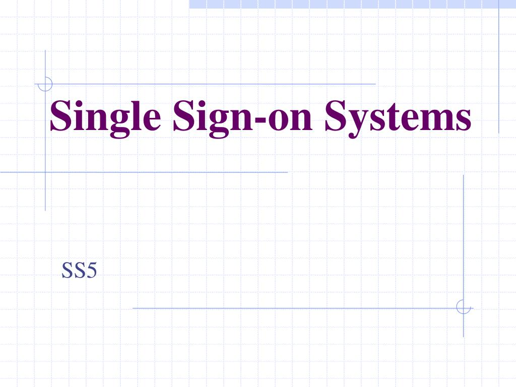 single sign on systems l.