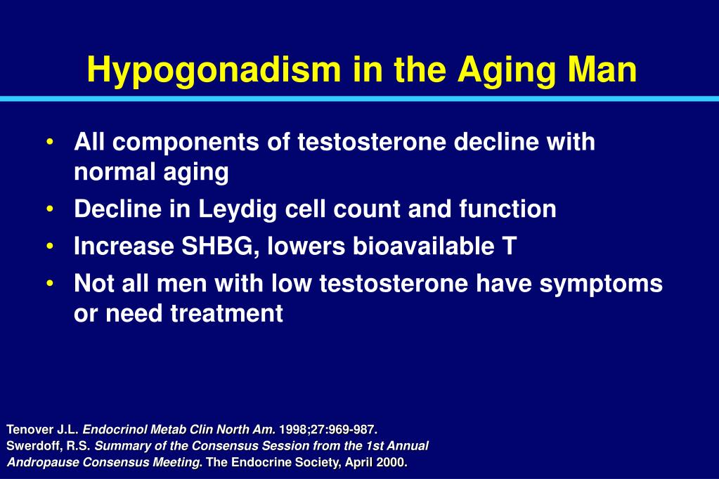 Hypogonadism in the Aging Man