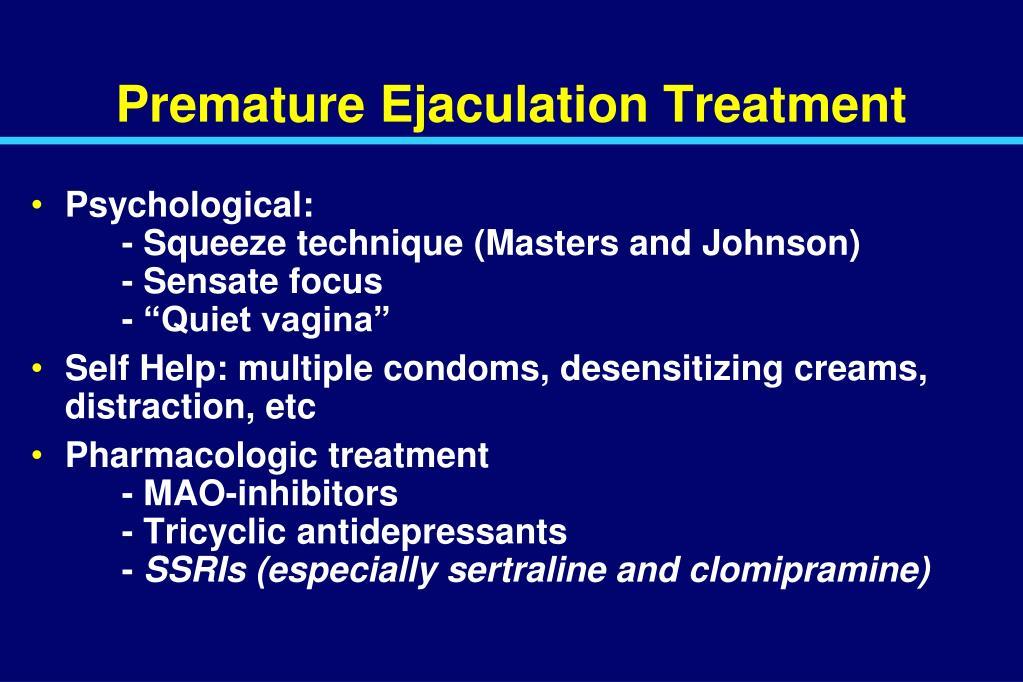 Premature Ejaculation Treatment